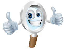 Review Mascot thumbs up