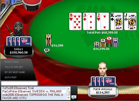 Isildur1 vs Patrik Antonius on FTP